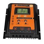Régulateur de Charge Solaire, Keenso Contrôleur de Charge de Panneau Solaire MPPT Intelligent avec Ecran LCD Régulateur Batterie Affichage avec Double USB (70A) de la marque Keenso image 1 produit