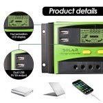 Régulateur de panneau solaire, 30A 12V / 24V, Régulateur de charge solaire intelligent avec fusible de batterie, 2 ports USB, ajustement de température et protection contre la surcharge de la marque XIEHAIGE image 1 produit