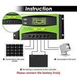 Régulateur de panneau solaire, 30A 12V / 24V, Régulateur de charge solaire intelligent avec fusible de batterie, 2 ports USB, ajustement de température et protection contre la surcharge de la marque XIEHAIGE image 2 produit