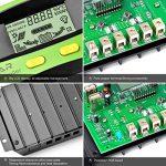 Régulateur de panneau solaire, 30A 12V / 24V, Régulateur de charge solaire intelligent avec fusible de batterie, 2 ports USB, ajustement de température et protection contre la surcharge de la marque XIEHAIGE image 4 produit