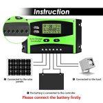 Régulateur de panneau solaire MOHOO Régulateur de charge solaire intelligent 12V / 24V LCD avec Port USB Affichage charge solaire contrôleur ajustement de température de la marque MOHOO image 1 produit