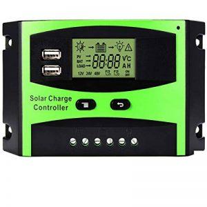 Régulateur de panneau solaire MOHOO Régulateur de charge solaire intelligent 12V / 24V LCD avec Port USB Affichage charge solaire contrôleur ajustement de température de la marque MOHOO image 0 produit