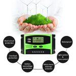 Régulateur de panneau solaire MOHOO Régulateur de charge solaire intelligent 12V / 24V LCD avec Port USB Affichage charge solaire contrôleur ajustement de température de la marque MOHOO image 3 produit