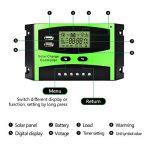 Régulateur de panneau solaire MOHOO Régulateur de charge solaire intelligent 12V / 24V LCD avec Port USB Affichage charge solaire contrôleur ajustement de température de la marque MOHOO image 4 produit