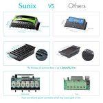Régulateur de panneau solaire Sunix 20A 12V / 24V, Régulateur de charge solaire intelligent avec fusible de batterie, 2 ports USB, ajustement de température et protection contre la surcharge de la marque Sunix image 1 produit