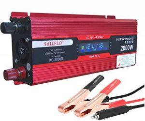 SAILFLO onduleur 12 v 220 v Convertisseur sinusoïdal 2kw sinusoïde avec affichage digital de la marque SAILFLO image 0 produit