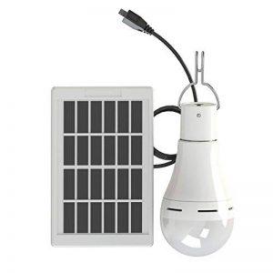Sigarear Ampoule solaire, Lampe solaire, Lumière LED portable, Lanterne rechargeable avec panneau solaire pour camping tente, pêche, urgence, remise, jardin, extérieur, interieur (60W 250LM 5 modes) de la marque Sigarear image 0 produit