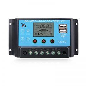 Sunix 10A Contrôleur de Charge Régulateur Panneau Solaire Affichage LED 12-24V, Régulateur Batterie Panneau Solaire Protection Sûre de la marque Sunix image 0 produit