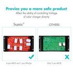 Sunix 20A Contrôleur de Charge Régulateur Panneau Solaire Affichage LED 12-24V, Régulateur Batterie Panneau Solaire Protection Sûre de la marque Sunix image 2 produit
