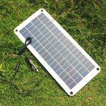 Symboat Chargeur solaire de la batterie du panneau solaire 12V à 5V 20W pour l'alimentation d'énergie de caravane de bateau de voiture de la marque Symboat image 3 produit