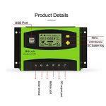 Tellunow 40A PWM Contrôleur Solaire de Batterie du Panneau Solaire 12V/24V de Régulateur de Charge avec l'affichage d'affichage à Cristaux liquides et Le Port USB, Température de la marque Tellunow image 1 produit