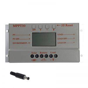 Top-Sell LCD 30A 12V / 24V MPPT Panneau solaire Régulateur de batterie Régulateur de charge T20 3 Minuterie de la marque Top-Sell image 0 produit