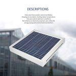 Ventilateur solaire, ventilateur de ventilateur thermostatique solaire à effet de serre écologique avec panneau solaire, pour l'échappement et le refroidissement automatiques de l'air de ventilation de la marque FinukGo image 2 produit