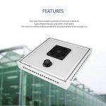 Ventilateur solaire, ventilateur de ventilateur thermostatique solaire à effet de serre écologique avec panneau solaire, pour l'échappement et le refroidissement automatiques de l'air de ventilation de la marque FinukGo image 1 produit