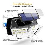 [Version Innovante] Mpow 30 LED Lampe Solaire Etanche IP66 Détecteur de Mouvement Panneau Solaire Amélioré 1800 mAh Puissante Eclairage Extérieur pour Jardin, Garage, Cour, Maison, Escalier, Allée de la marque Mpow image 3 produit
