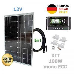 VIASOLAR Kit 100W ECO 12V Panneau Solaire monocristallin cellules allemandes de la marque VIASOLAR image 0 produit