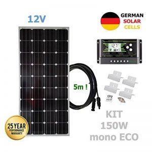 VIASOLAR Kit 150W ECO 12V Panneau Solaire monocristallin cellules allemandes de la marque VIASOLAR image 0 produit
