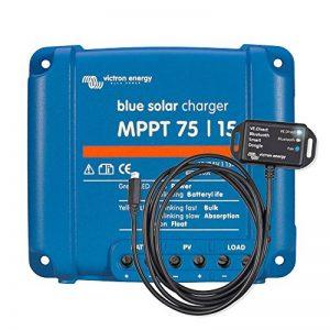Victron Energy Set BlueSolar | régulateur de charge solaire |régulateur de charge | régulateur solaire | MPPT 75/15 | 12 - 24 V | 15A | y compris VE.Direct Bluetooth Smart Dongle de la marque Victron Energy image 0 produit