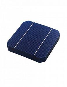Vikocell 10pcs Cellules solaires 5x5 2.7W, catégorie A, plaques de silicium PV monocristallin pour DIY Accueil Panneaux solaires photovoltaïques de la marque Vikocell image 0 produit