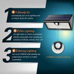 Zanflare 71 LED Lampe Solaire Extérieure Imperméable, Lampe de Sécurité de Détecteur de Mouvement,pour Jardin, Clôture, Patio, Cour, Allée, Escaliers, Mur Extérieur (Capacité de 5200mAh) de la marque Zanflare image 2 produit