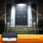 Zanflare 71 LED Lampe Solaire Extérieure Imperméable, Lampe de Sécurité de Détecteur de Mouvement,pour Jardin, Clôture, Patio, Cour, Allée, Escaliers, Mur Extérieur (Capacité de 5200mAh) de la marque Zanflare image 3 produit